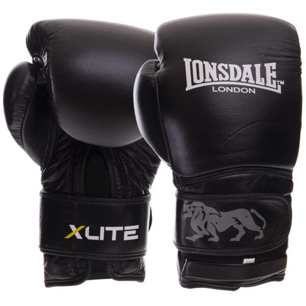 Перчатки боксерские кожаные LND X LITE VL-8336 10-12 унций черный