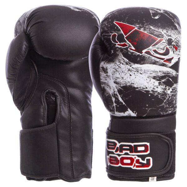 Перчатки боксерские BDB SPIDER VL-6602 10-12 унций черный-белый