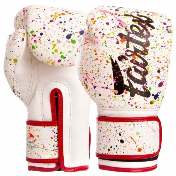 Перчатки боксерские FAIRTEX BGV14PT 10-14 унций белый