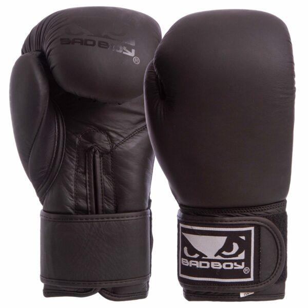 Перчатки боксерские кожаные BDB VL-6605 MATT 10-14 унций черный
