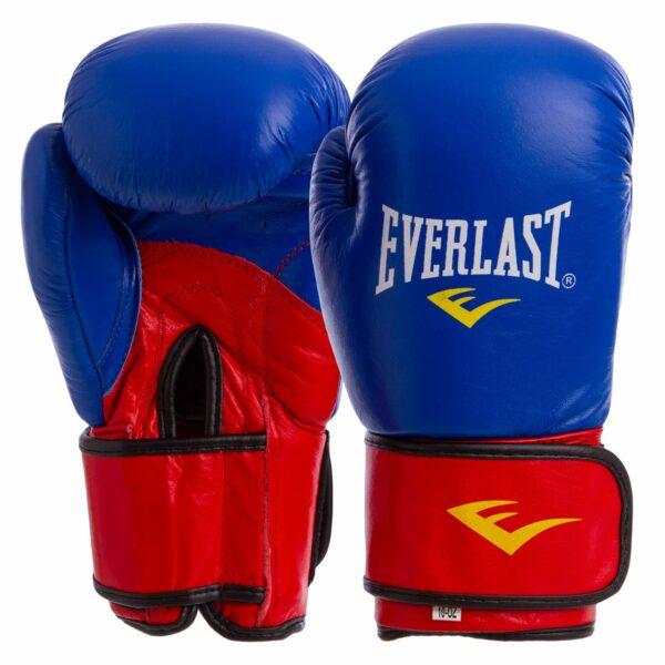 Перчатки боксерские кожаные ELS MA-6750 10-14 унций цвета в ассортименте
