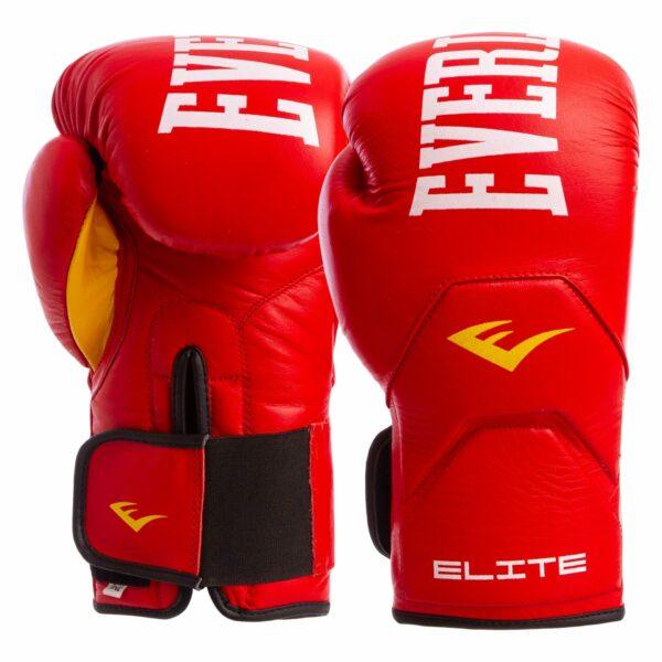 Перчатки боксерские кожаные ELS MA-6758 10-14 унций цвета в ассортименте