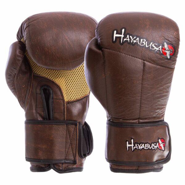 Перчатки боксерские кожаные HAYABUSA KANPEKI VL-5779 10-12 унций коричневый