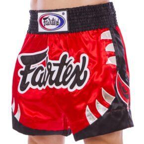 Шорты для тайского бокса и кикбоксинга FAIRTEX BS0611 S-2XL красный-черный