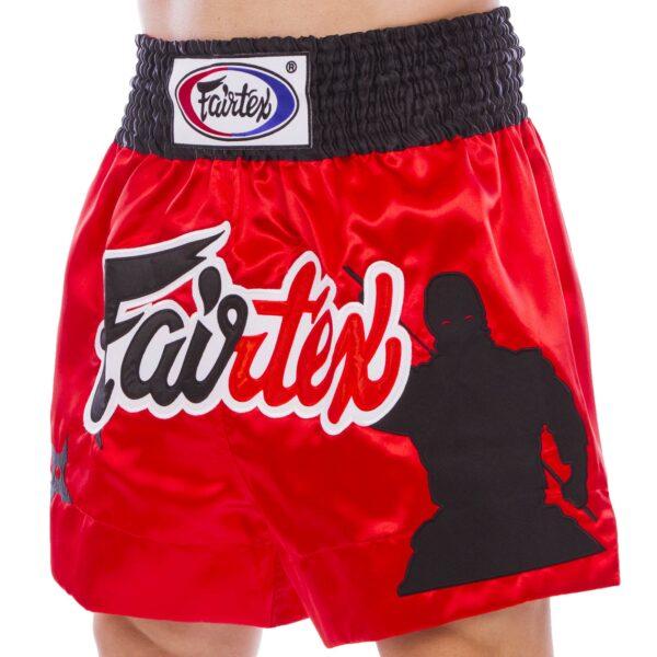Шорты для тайского бокса и кикбоксинга FAIRTEX BS0638 S-2XL красный