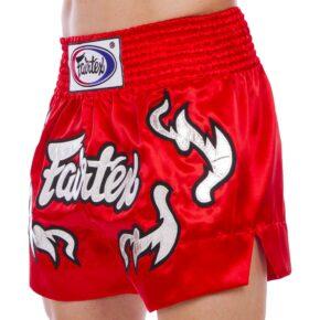 Шорты для тайского бокса и кикбоксинга FAIRTEX BS0665 S-2XL красный