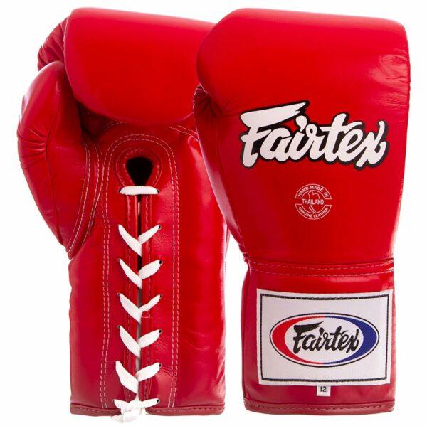 Перчатки боксерские кожаные професиональные на шнуровке FAIRTEX BGL6 10-16 унций цвета в ассортименте
