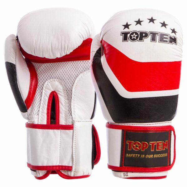Перчатки боксерские кожаные TOP TEN MA-6752 10-14 унций цвета в ассортименте
