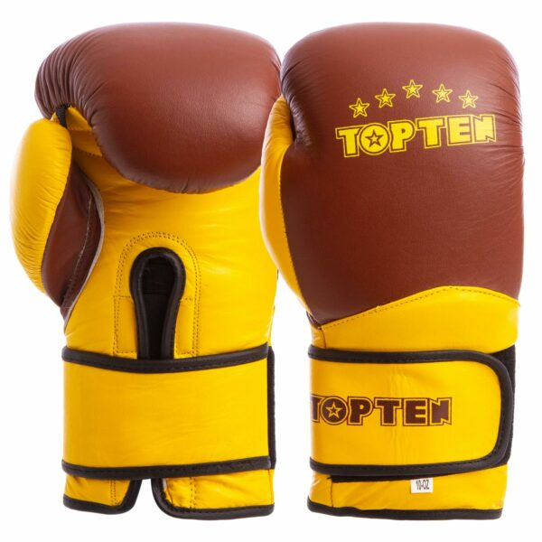 Перчатки боксерские кожаные TOP TEN MA-6756 10-14 унций цвета в ассортименте