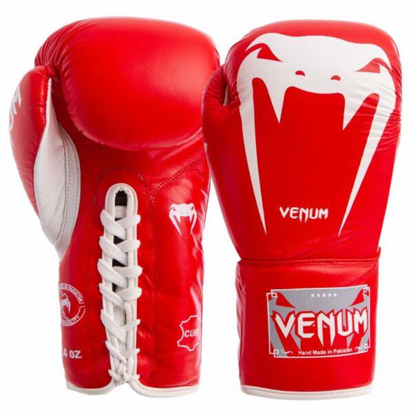 Перчатки боксерские кожаные професиональные на шнуровке VNM GIANT VL-5786 10-14 унций цвета в ассортименте