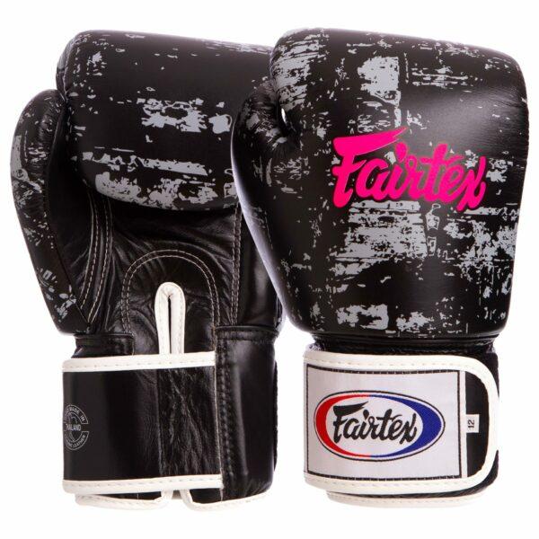 Перчатки боксерские кожаные FAIRTEX BGV1-DARKCL DARK CLOUD 10-16 унций черный
