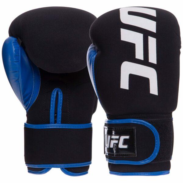 Перчатки боксерские UFC PRO Washable UHK-75015 S-M синий