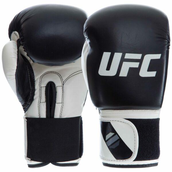 Перчатки боксерские UFC PRO Compact UHK-75004 S-M белый-черный