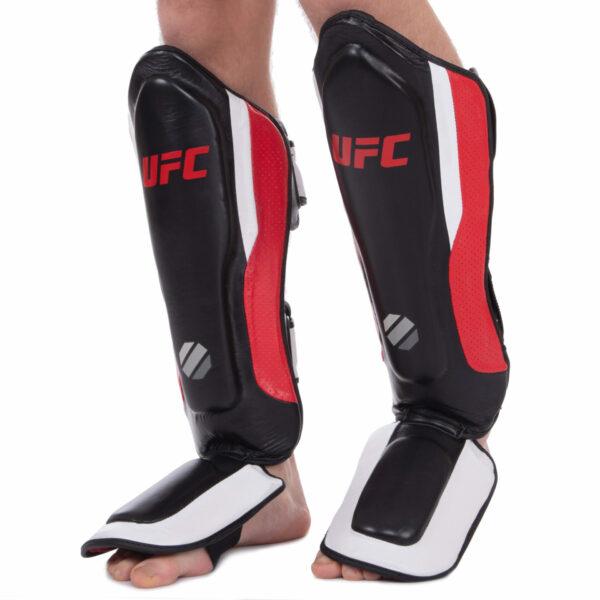 Защита голени и стопы для единоборств UFC PRO Training UHK-69979 S-M красный-черный