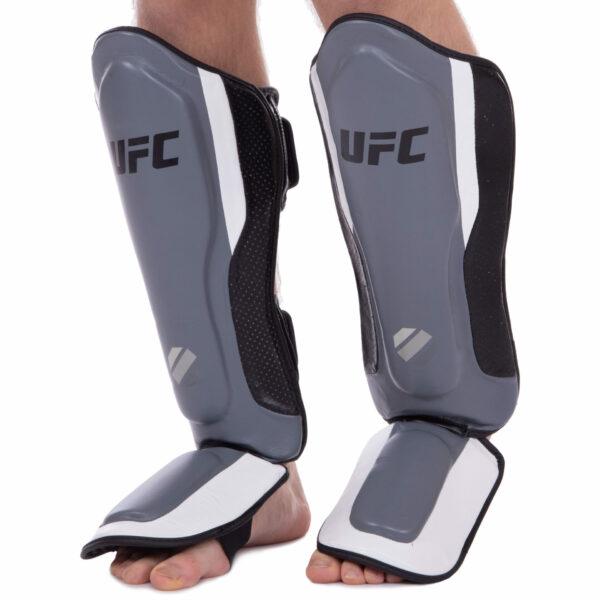 Защита голени и стопы для единоборств UFC PRO Training UHK-69981 S-M серебряный-черный