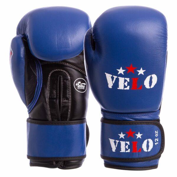 Перчатки боксерские профессиональные AIBA VELO 2081 10-12 унций синий