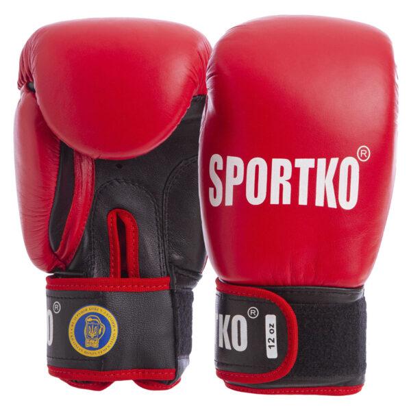 Перчатки боксерские профессиональные с печатью ФБУ SPORTKO UR SP-4705 10-12 унций цвета в ассортименте