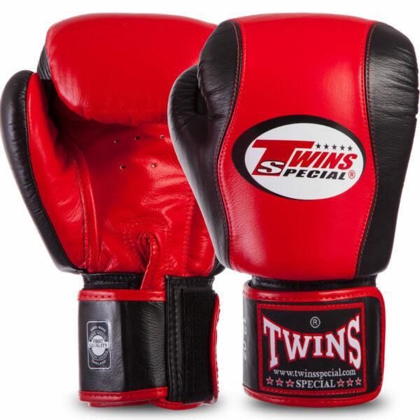 Перчатки боксерские кожаные TWINS BGVL7-2RD-BK 12-16 унций красный-черный