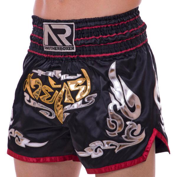 Шорты для тайского бокса и кикбоксинга SP-Sport BO-2341 M-XL черный-красный
