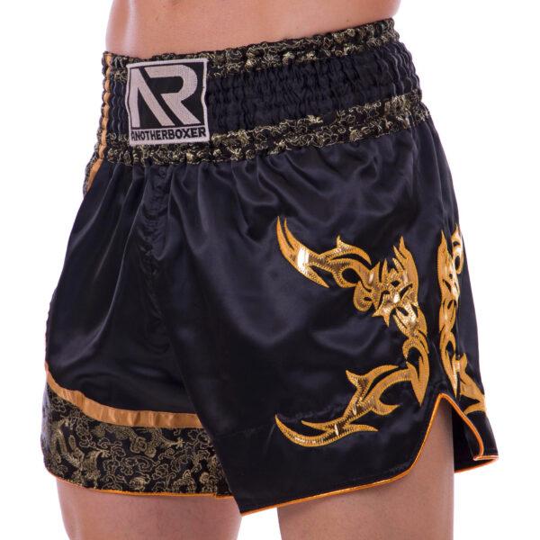 Шорты для тайского бокса и кикбоксинга SP-Sport BO-2345 M-XL черный-золотой
