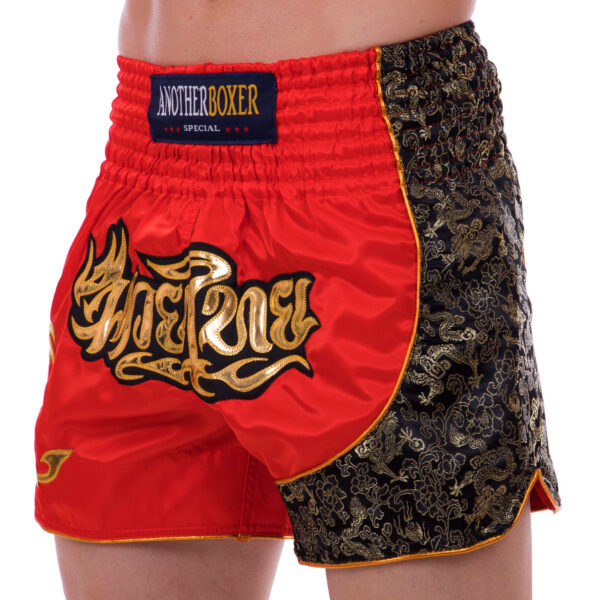 Шорты для тайского бокса и кикбоксинга SP-Sport BO-2347 M-XL красный-золотой
