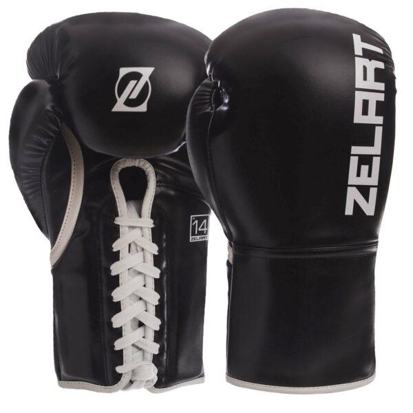 Перчатки боксерские професиональные на шнуровке Zelart BO-1348 10-14 унций цвета в ассортименте