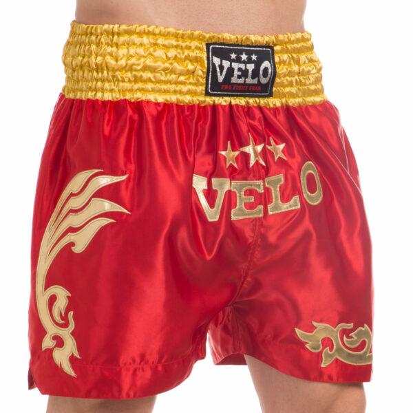 Шорты для тайского бокса и кикбоксинга VELO ULI-9200 S-XL цвета в ассортименте