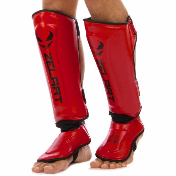 Защита голени и стопы для единоборств ZELART BO-1376 S-XL цвета в ассортименте